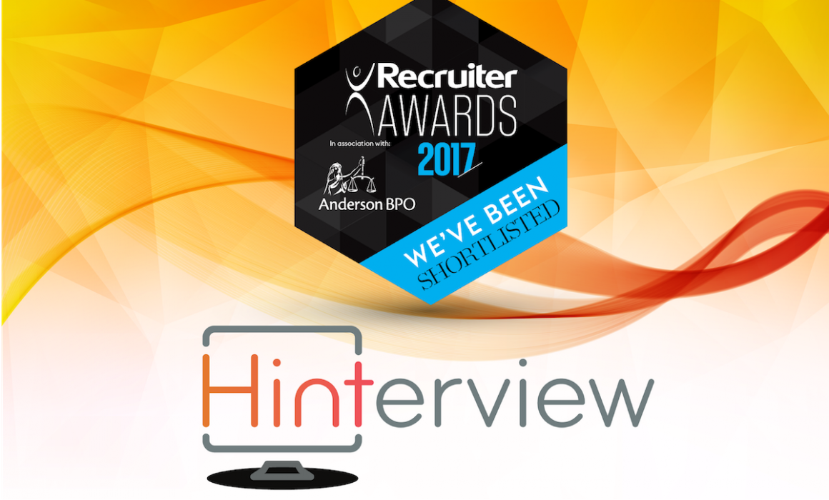 Hinterview is Shortlisted for 'Recruitment Technology Innovation of the Year'